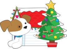 Σπίτι σκυλιών Χριστουγέννων Στοκ εικόνες με δικαίωμα ελεύθερης χρήσης