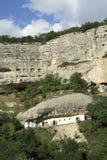 Σπίτι σπηλιών κοντά σε Bakhchisarai, Ουκρανία Στοκ Εικόνα