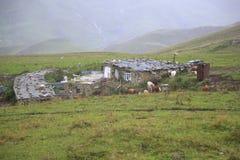 Σπίτι στα βουνά Τσετσενίας Στοκ φωτογραφία με δικαίωμα ελεύθερης χρήσης