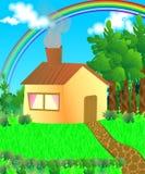 Σπίτι στα δάση διανυσματική απεικόνιση