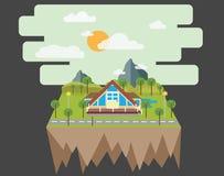 Σπίτι στην επαρχία Διανυσματική απεικόνιση