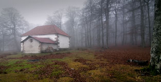 Σπίτι στην ομίχλη Στοκ εικόνα με δικαίωμα ελεύθερης χρήσης