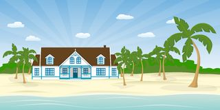 Σπίτι στην παραλία Στοκ φωτογραφία με δικαίωμα ελεύθερης χρήσης