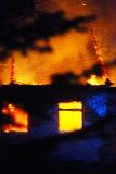 Σπίτι στην πυρκαγιά Στοκ Εικόνες
