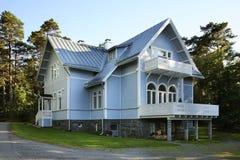 Σπίτι στην πόλη Vaasa Φινλανδία στοκ εικόνες με δικαίωμα ελεύθερης χρήσης
