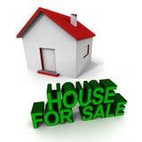 Σπίτι στην πώληση ελεύθερη απεικόνιση δικαιώματος