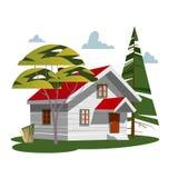 Σπίτι στη φύση απεικόνιση αποθεμάτων