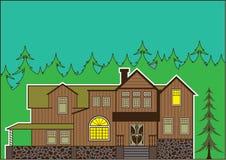 Σπίτι στο δάσος διανυσματική απεικόνιση