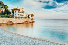 Σπίτι στο γαλλικό Riviera στην Προβηγκία στο νότο της Γαλλίας Στοκ εικόνα με δικαίωμα ελεύθερης χρήσης