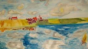 Σπίτι στο νερό Στοκ Φωτογραφίες