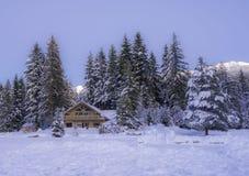 Σπίτι στο συριστήρα π.Χ. Καναδάς λιμνών της Alta στοκ φωτογραφία με δικαίωμα ελεύθερης χρήσης
