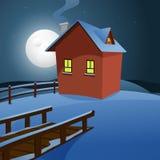 Σπίτι στο χιόνι Στοκ εικόνα με δικαίωμα ελεύθερης χρήσης