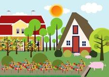 Σπίτι στο χωριό Στοκ Εικόνα
