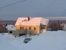 Σπίτι στο λόφο Στοκ εικόνα με δικαίωμα ελεύθερης χρήσης