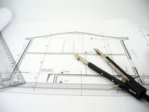 σπίτι σχεδίου Στοκ Εικόνα