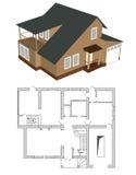 σπίτι σχεδίων Απεικόνιση αποθεμάτων