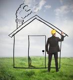 Σπίτι σχεδίων αρχιτεκτόνων στοκ φωτογραφίες