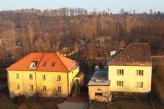 σπίτι σύγχρονα προαστιακά δύο Στοκ Εικόνες