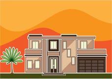 σπίτι σύγχρονο απεικόνιση αποθεμάτων