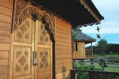 Σπίτι Ταϊλάνδη μπροστινών πορτών Στοκ Εικόνα