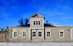 σπίτι τα αγροτικά ρωσικά Στοκ Εικόνες