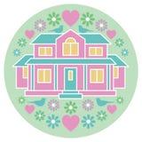 Σπίτι της αγάπης και της ευτυχίας Στοκ φωτογραφία με δικαίωμα ελεύθερης χρήσης