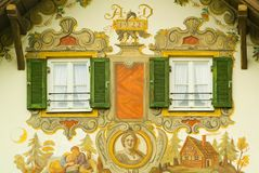 σπίτι της Βαυαρίας που χρ&om Στοκ Εικόνα