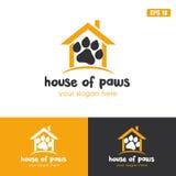 Σπίτι της διανυσματικής επιχειρησιακών ιδέας λογότυπων ποδιών/λογότυπων σχεδίου εικονιδίων στοκ φωτογραφίες