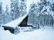 Σπίτι της Sami το χειμώνα Lapland Φινλανδία Στοκ εικόνα με δικαίωμα ελεύθερης χρήσης