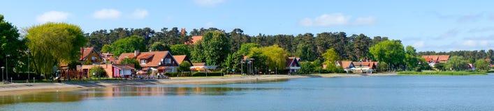Σπίτι του παραδοσιακού ψαρά στη Nida, Λιθουανία Στοκ φωτογραφίες με δικαίωμα ελεύθερης χρήσης