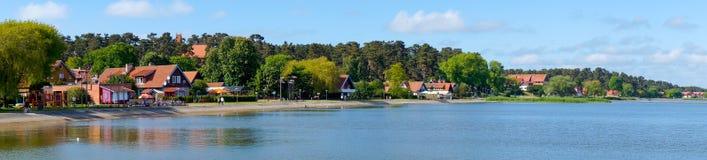 Σπίτι του παραδοσιακού ψαρά στη Nida, Λιθουανία Στοκ εικόνες με δικαίωμα ελεύθερης χρήσης