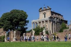 Σπίτι του παρθένου στο ρωμαϊκό φόρουμ Στοκ Εικόνα