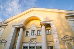 Σπίτι του πολιτισμού σε Sillamae Η αρχιτεκτονική της εποχής του Στάλιν Στοκ Φωτογραφία