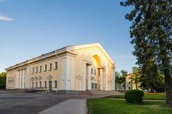 Σπίτι του πολιτισμού σε Sillamae Η αρχιτεκτονική της εποχής του Στάλιν Στοκ φωτογραφίες με δικαίωμα ελεύθερης χρήσης