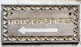 Σπίτι του σημαδιού καρυκευμάτων Στοκ εικόνα με δικαίωμα ελεύθερης χρήσης