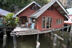 Σπίτι του ψαρά Koh Panyee, εθνικό πάρκο nga AO Phang Στοκ Εικόνα