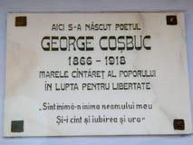 Σπίτι του George Cosbuc στοκ φωτογραφία με δικαίωμα ελεύθερης χρήσης