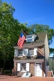 Σπίτι του Ross Betsy στην παλαιά Φιλαδέλφεια Πενσυλβανία Στοκ εικόνες με δικαίωμα ελεύθερης χρήσης