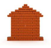 σπίτι τούβλου Στοκ εικόνα με δικαίωμα ελεύθερης χρήσης