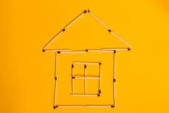 Σπίτι των αντιστοιχιών Στοκ φωτογραφία με δικαίωμα ελεύθερης χρήσης