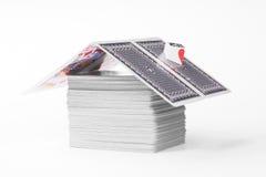 Σπίτι των καρτών Στοκ φωτογραφίες με δικαίωμα ελεύθερης χρήσης