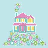 Σπίτι των λουλουδιών Στοκ εικόνα με δικαίωμα ελεύθερης χρήσης