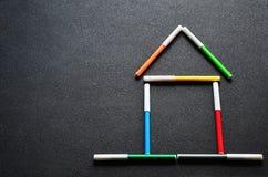 Σπίτι των χρωματισμένων μανδρών πίλημα-ακρών Στοκ Φωτογραφίες
