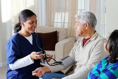 σπίτι υγείας προσοχής στοκ εικόνες με δικαίωμα ελεύθερης χρήσης