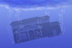 σπίτι υποβρύχιο Στοκ Φωτογραφίες