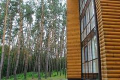 Σπίτι υπολοίπου στο ξύλο στοκ φωτογραφία