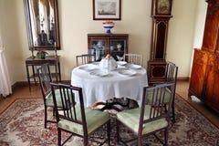 Σπίτι φέουδων τραπεζαρίας στο οικογενειακό κτήμα Lermontov Tarkhany Στοκ εικόνα με δικαίωμα ελεύθερης χρήσης