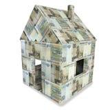 Σπίτι φιαγμένο από λογαριασμούς 50 ρουβλιών Στοκ Εικόνα