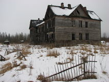 σπίτι φρίκης Στοκ Φωτογραφία