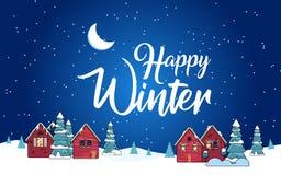 Σπίτι χιονιού κινούμενων σχεδίων και αγροτικά εξοχικά σπίτια καθορισμένα στοκ φωτογραφία με δικαίωμα ελεύθερης χρήσης